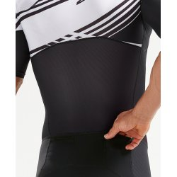 2XU - Comp Full Zip Sleeved Trisuit - negru-alb