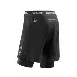 CEP Pantaloni scurti de antrenament 2 în 1 negri