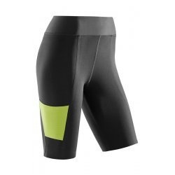 CEP Pantaloni scurti de antrenament W black-lime