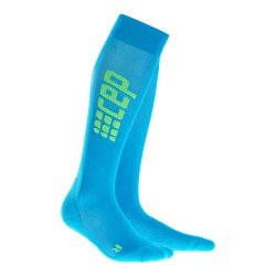 CEP Sosete de compresie pentru alergare ultralight W albastru electric-verde