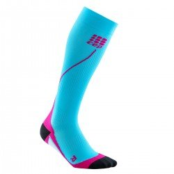 CEP Sosete de compresie 2.0 W pentru alergare albastru hawaii-roz