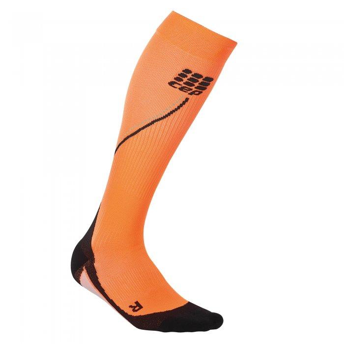 CEP Sosete de compresie 2.0 W pentru alergare de noapte portocaliu-negru