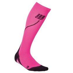 CEP Sosete de compresie 2.0 W pentru alergare de noapte roz-negru