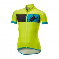 Castelli Future Racer Kid - Tricou cu maneca scurta pentru bicicleta - galben-fluo