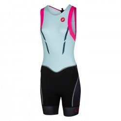 Castelli Trisuit Free W Tri ITU bleu/roz/negru femei