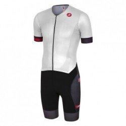 Castelli Trisuit Free Sanremo Suit SS alb-negru