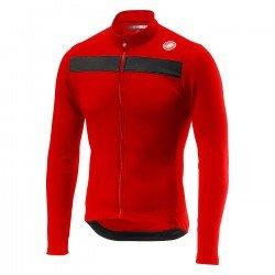 Castelli Puro 3 FZ  tricou cu maneca lunga negru-rosu