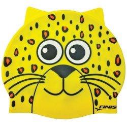 Finis Casca Inot Silicon Copii Leopard Galben