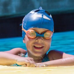 Finis Swimmies Portocaliu-Albastru/Transparent Ochelari inot copii