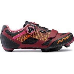 Northwave Razer W - pantofi MTB - rosu-negru