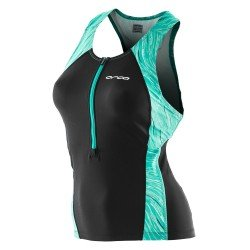 Orca Core Singlet Top triatlon negru-turcoaz