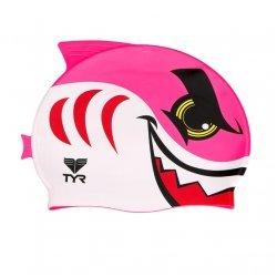 TYR Casca inot copii CharacTYR rechin roz