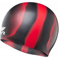 TYR casca inot silicon multicolor negru-rosu