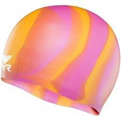 Cască înot silicon multicolor TYR galben-roz