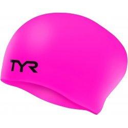 TYR - Casca inot silicon pentu par lung - roz