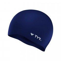 Casca inot silicon TYR albastru inchis