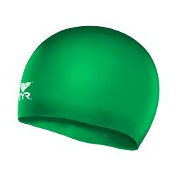 Casca inot silicon copii verde TYR