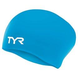 Casca inot TYR pentru par lung albastra