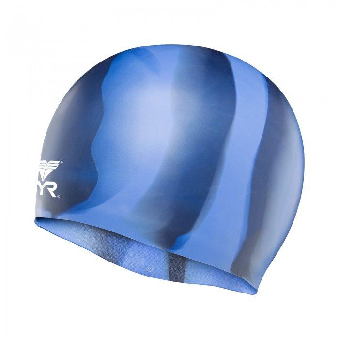 Cască înot silicon multicolor TYR albastru