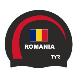 TYR casca inot silicon Romania negru-rosu