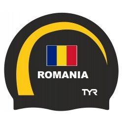 Casca inot Romania TYR negru-galben