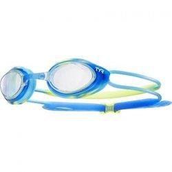 TYR ochelari inot copii BlackHank albastru-verde