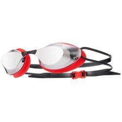 TYR Stealth Racing Metalizat ochelari inot argintiu-rosu-negru