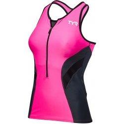 TYR Competitor Loose Singlet top triatlon cu bustiera roz-negru
