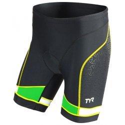 "TYR Tri Short Barbati 7"" negru-verde-galben"