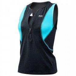 TYR Competitor Loose Singlet top triatlon cu bustiera negru-albastru