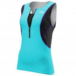 TYR Competitor Loose Singlet top triatlon cu bustiera albastru-negru