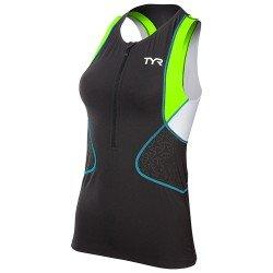 TYR Competitor Singlet Top triatlon femei negru-verde