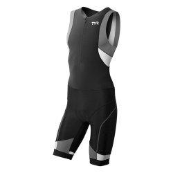 TYR Trisuit  Competitor cu fermoar in fata negru-gri