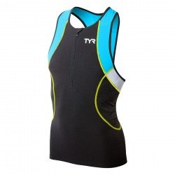 TYR Competitor top triatlon barbati negru-albastru-galben