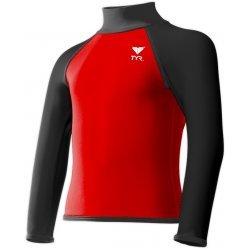 TYR Bluza inot copii Solid Rashguard rosu-negru