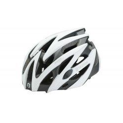 BikeFun Casca Edge alb-carbon