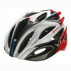 BikeFun Casca Vision rosu-negru-alb