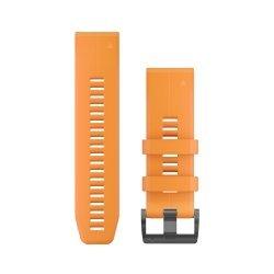 Garmin curea silicon Spark Orange QuickFit 26 pentru Fenix 5x / 3 / 3HR 18