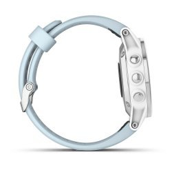 Garmin Fenix 5s Plus Silver alb albastru deschis