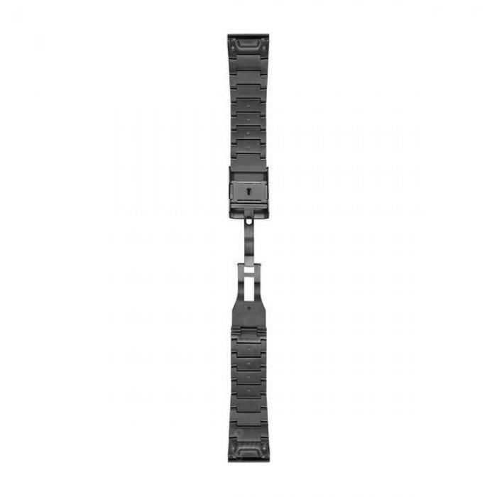 Garmin curea metalica gri QuickFit 26 pentru Fenix 5x / 3 / 3HR
