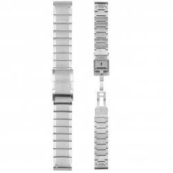 Garmin curea metalica argintie QuickFit 22 pentru Fenix 5