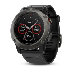 Garmin Fenix 5X Slate Grey Sapphire with black band