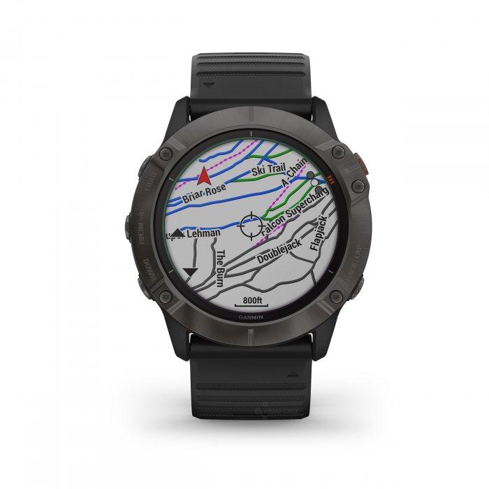 Garmin Fenix 6x PRO Solar Carbon Grey DLC - curea neagra