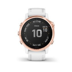 Garmin Fenix 6s PRO Rose Gold - curea alba