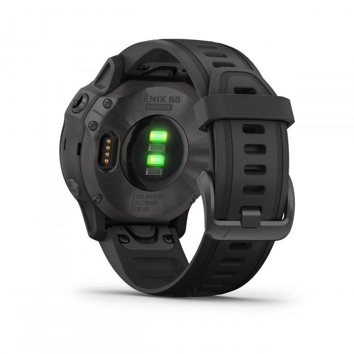 Garmin Fenix 6s Sapphire Carbon Grey DLC - curea neagra