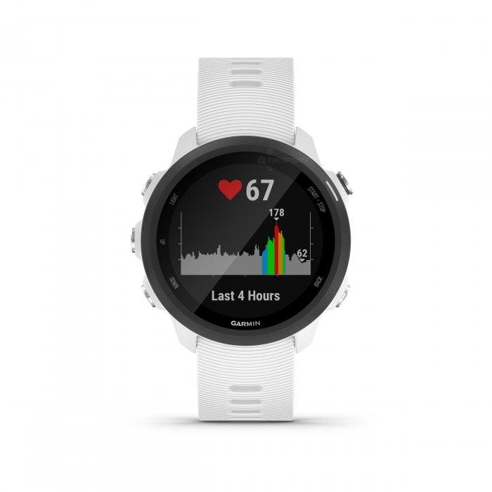 Garmin Forerunner 245 Music alb - ceas cu GPS pentru alergare, bicicleta, cardio, yoga si alte sporturi