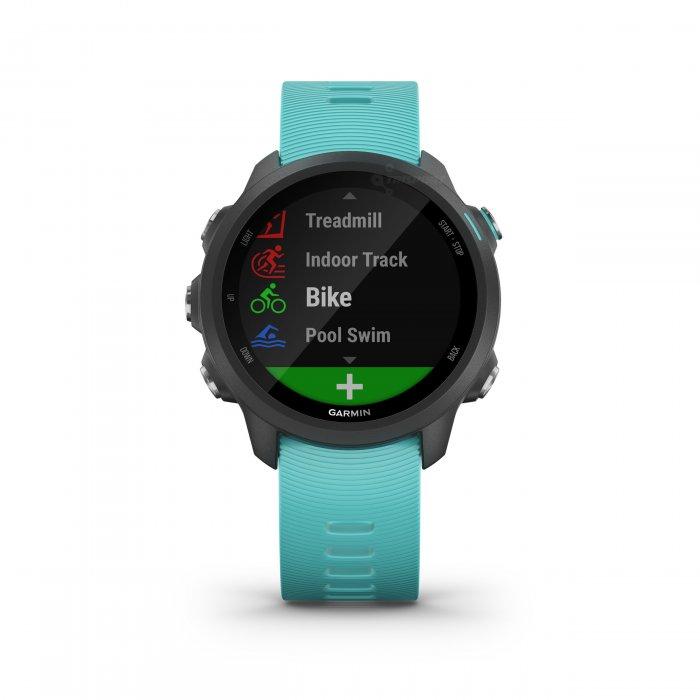 Garmin Forerunner 245 Music turcoaz - ceas cu GPS pentru alergare, bicicleta, cardio, yoga si alte sporturi