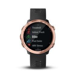 Garmin Forerunner 645 Music negru rose gold - ceas cu GPS pentru alergare, bicicleta, cardio, yoga si alte sporturi