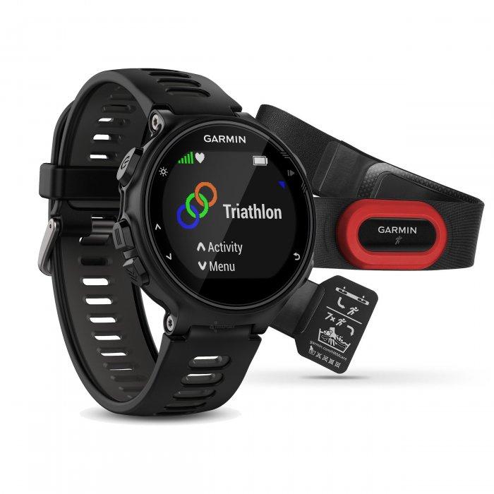 Garmin Forerunner 735xt negru-gri Bundle HRM-Run - ceas cu GPS pentru alergare, bicicleta, inot, triatlon si alte sporturi