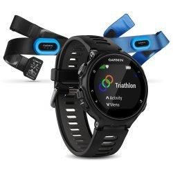 Garmin Forerunner 735xt negru-gri Bundle Triathlon - ceas cu GPS pentru alergare, bicicleta, inot, triatlon si alte sporturi
